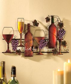 Wine Bottle Wall Hanging Decor, starting at $25.