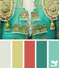 Matador tones from design seeds. Find your color palette. Colour Pallette, Color Palate, Colour Schemes, Color Patterns, Color Combinations, Green Palette, Design Seeds, Viva Color, World Of Color