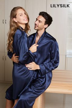 High-End Silk Couple Robe Sets. #silk #silkpajamas #hisandher