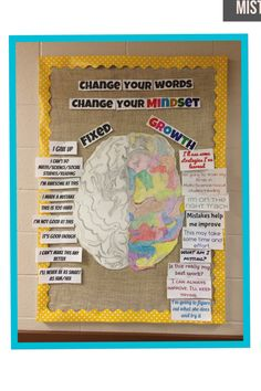 Growth Mindset vs. Fixed Mindset. Make a bulletin board like this one! $