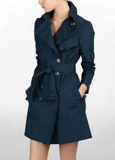 Gorgeous Prussian blue Trench coat by Burberry of course!