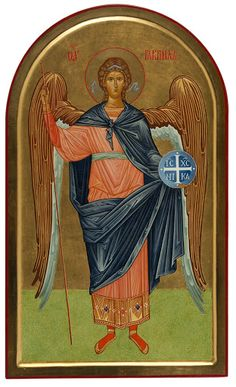 Archangel Gabriel by Paola Morandi Archangel Gabriel, Orthodox Christianity, Man, Saints, Album, Angels, Painting, Hearts, Quotes