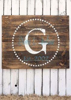 Custom Wood Sign, Established Wood Sign, Wedding, Bridal shower, Personalized Family Name Barn Wood Projects, Reclaimed Wood Projects, Pallet Projects, Repurposed Wood, Art Projects, Barn Wood Signs, Custom Wood Signs, Wooden Signs, Pallet Signs