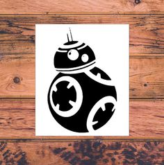 Star Wars BB8 Inspired Decal  Star Wars Silhouette  by Carcals