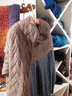 This shawl/scarf/wrap/stole is perfect for when the weather get's colder. You need really only a skein and a half of this yarn. Gauge is not critical so I didn't include one.