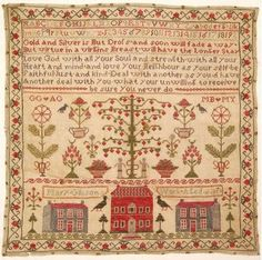Mary Gibson's 1824 sampler is available as a download from Haslemere Educational Museum. This is going on my to do list