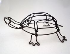 Turtle Wire Sculpture by WiredbyBud on Etsy, $20.00