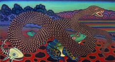 """Michael Noland, PEACEABLE KINGDOM, Oil on Canvas, 22 x 42"""""""