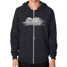 Skydiving Zip Hoodie (on man)