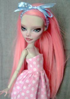 OOAK Custom Monster High doll Ghoulia Yelps by UnnieDolls on Etsy