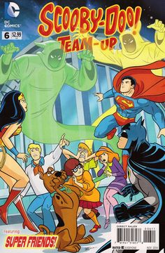 Scooby-Doo Team Up (Scooby-Doo Team-Up )): The Superfriends have asked for help chasing ghosts out of the Hall of Justice. Will the Scooby gang be helpful, or will Shaggy's fear of rainbows give these particular ghosts too big an advantage? Cartoon Books, Cartoon Art, Cartoon Characters, Comic Books, Hanna Barbera, Scooby Doo Images, Scooby Doo Mystery Incorporated, New Scooby Doo, Friend Cartoon