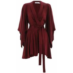 Kimono Dress, from our Fall 17 collection, in Burgundy sueded silk. Robe dress with wrap front detail, kimono sleeves and flounced skirt. Red Ruffle Dress, Red Wrap Dress, Wrap Dress Short, Frilly Dresses, Short Dresses, Short Kimono Dress, Mini Wrap, Australian Designer Dresses, Burgundy Dress