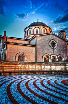 Church of Virgin Marry or Panagia, Kavala, Greece. This Church is in front of Mehmet Ali birth place and house. Built In 1965 on the ruins of older post Byzantine Basilica. Greek Life, Travel Info, Greece Travel, Byzantine, Plan Your Trip, Around The Worlds, Explore, Mansions, Ali