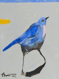 Rick  Bartow -Nancy's Bird in Blue 12 x 9