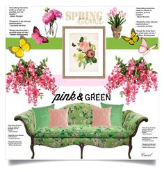 """""""Spring Florals"""" by hastypudding ❤ liked on Polyvore featuring interior, interiors, interior design, home, home decor, interior decorating, LSA International, Kate Spade and Pier 1 Imports"""