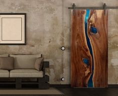 Live Edge Resin Doors - Stunning River Doors Custom Made for your Home Decor or Office - River Tables or Hanging Doors - Live Edge Wood - Wohnung - Live Edge Tisch, Live Edge Table, Live Edge Wood, Live Edge Slabs, Mesa Live Edge, Barn Door Designs, Live Edge Furniture, Modern Rustic Decor, Wood Slab