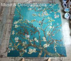 Bisazza Van Gogh Apricot Flower Crystal Glass Mosaic tile_Mural kitchen backsplash floor tile wall tile staircase wall