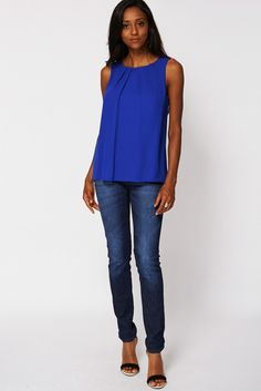 Dipped Hem Top with Back Detail Ex-Branded