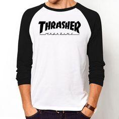 Fashion hot jerseys Mens Skateboards Cool T Shirt high Quality Hip Hop Trasher T Shirt Cotton  Street Thrasher Tshirt
