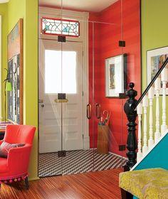 Déco d'Intérieur Coloré | entrée colorée décoration