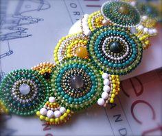 Lime Lemon Beaded Bracelet by ARTSTUDIO51 on Etsy, $150.00