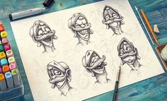 Amazing Character Design & Sketches by Mike - http://blog.smashcave.com/illustration/character-design/