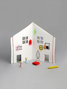 The Dollhouse Book by Rock & Pebble | creative drawing & coloring book for kids