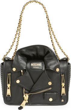 •Website: http://www.cuteandstylishbags.com/portfolio/moschino-black-biker-jacket-shoulder-bag/ •Bag: Moschino Black Biker Jacket Shoulder Bag