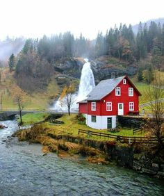 Norway. Water has somewhere deep to go