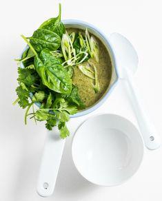 Vegetarian Thai coconut broccoli soup recipe
