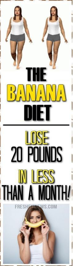 The Banana Diet: Lose 20 Pounds In Less Than A Month!
