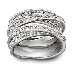 Swarovski Spiral Ring from Borsheims for $175.