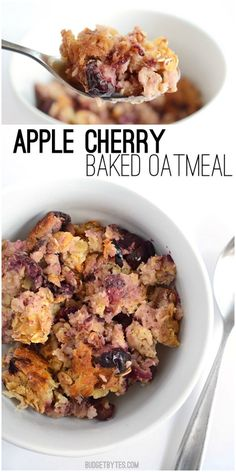 This lightly sweet, warm, and delicious Apple Cherry Baked Oatmeal has no added sugars and will keep you full and fueled all morning long.