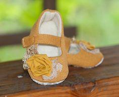 "AK DESIGNS ""Elegant Baby Shoes"" - Little Kathleen.. $28.00, via Etsy."