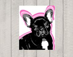 French Bulldog Art Print - Modern Dog Art - 8x10