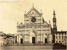 Piazza Santa Croce dopo la costruzione della facciata del Matas  nel 1865,