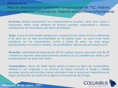 Columbus (@ColumbusDM) | Twitter | #ParaCerrar #Noticias #Columbus Peso se desploma por inminente renegociación de TLC; índices asimilan reportes corporativos, mejores perspectivas inflacionarias