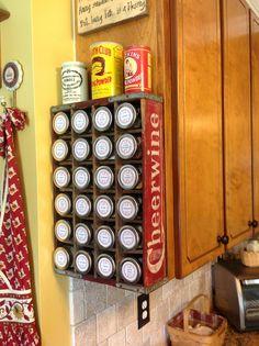 My spice rack.