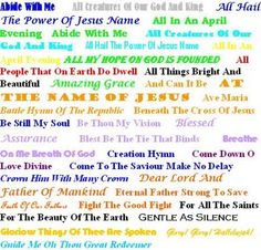 hymns - Bing Images