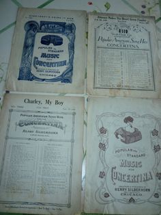 Concertina Sheet music Fun Titles Any Little by classy10 on Etsy, $5.00