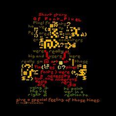 Pixel font booklet by Alexandr Tanana, via Behance