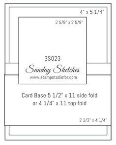 Sunday Sketches Card Sketch www.stampstodiefor.com