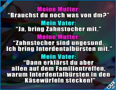 Manchmal müssen es eben Zahnstocher sein #Zahnstocher #Witz #Witze #Jodel #Jodelapp #Spruchbild Funny Stories, True Stories, Funny Picture Quotes, Funny Pictures, Funny Cute, Hilarious, Humor, Funny Memes, Jokes