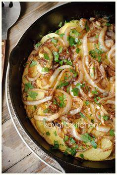 Balsamic Onion & Potato Frittata
