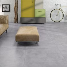 Get the hottest trend for less with these Cemento Mid Grey porcelain floor tiles! Three large format sizes to suit your space. Order a free sample today!