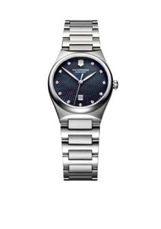 Victorinox Swiss Army  Victoria Black Mother Of Pearl Dial Watch