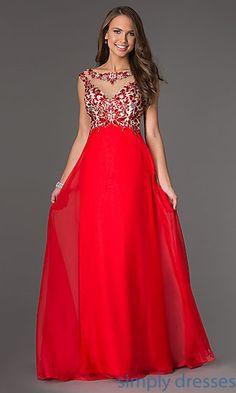 Floor Length Sleeveless Dress at SimplyDresses.com Wedding Dresses For  Girls 199fbdfd1b8e