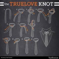 Van Heusen's The TRUE LOVE KNOT (Don't be scared, gentlemen. Tying this knot requires very little commitment. Who's willing to give it a shot?) #necktie #tie #mensfashion