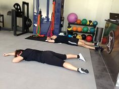 Friday session...... Luca and Babak having another post workout nap!