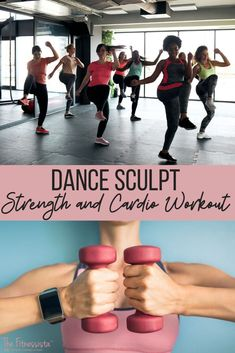 A super fun and sweaty dance sculpt workout combining dance cardio and barre-based endurance strength workout. Get in an awesome workout at home in 30 minutes! | Fitness Workout Routines | The Fitnessista Quick Workout At Home, Full Body Workout Routine, Cardio Workout At Home, Workout Routines For Beginners, Abs Workout Routines, Cardio Dance, Dance Workouts, Quick Workouts, Ab Workouts